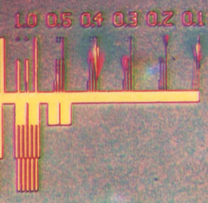 Test Chip. An overview from 1000nm to 100nm
