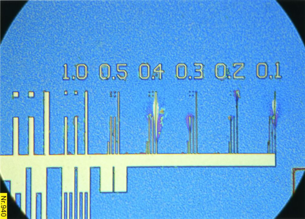 PTB Test Chip, µm Scale