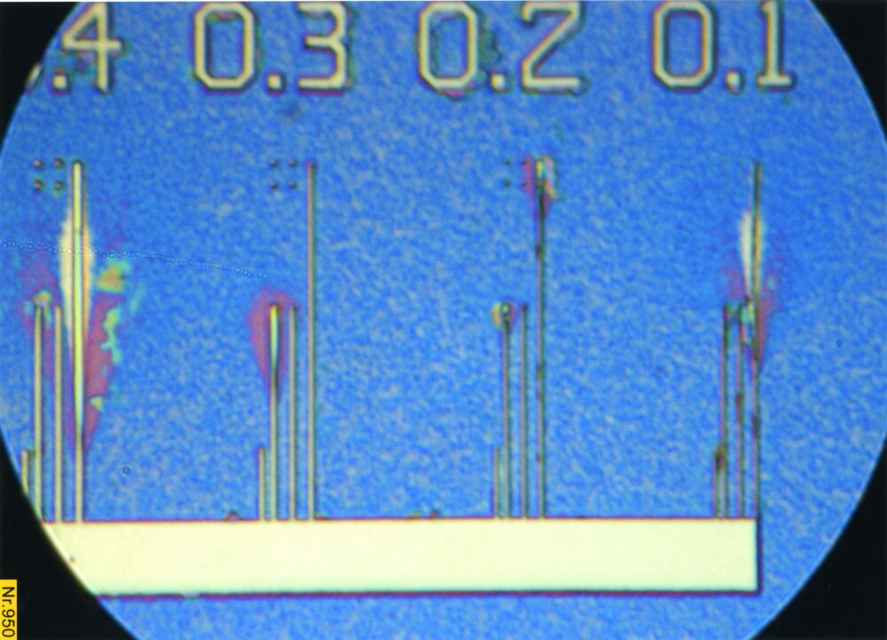 PTB Test Chip, 300nm down to 100nm
